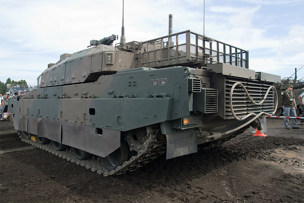 Tank uses sloped turret armor and with additional armor, type 10 tank