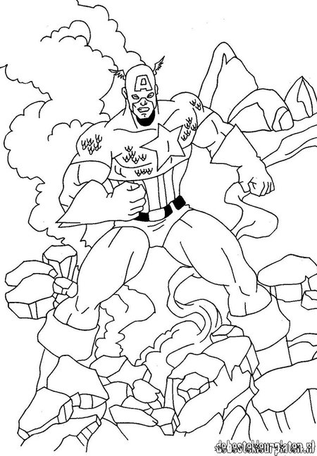 avengers coloring pages captain america - photo#21