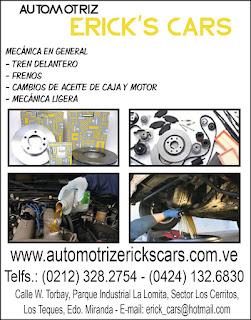 AUTOMOTRIZ ERICKS CARS C.A. en Paginas Amarillas tu guia Comercial