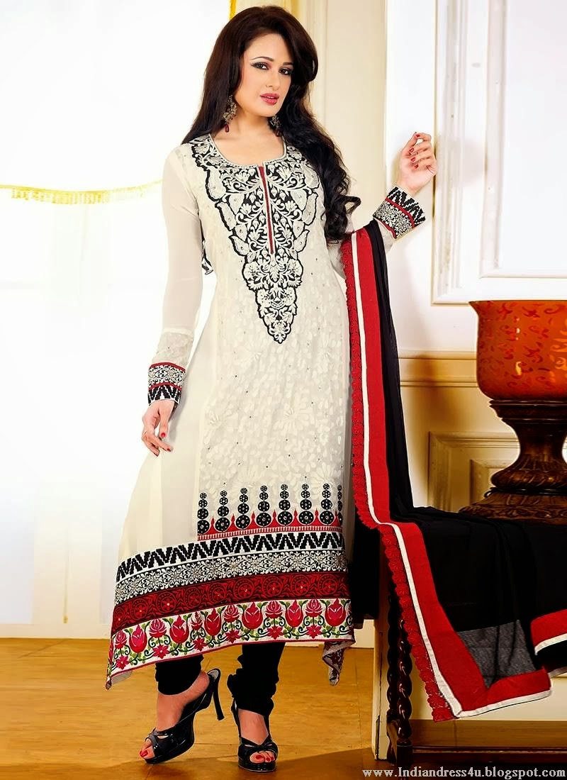 Indian Celebrities Salwar Kameez Latest Fashion 2014