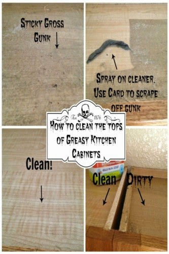 How To Clean The Tops Of Greasy Kitchen Cabinets  @ My Pinterventures