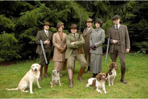 Downton Abbey Christmas Shooting Hunting Dogs Isis