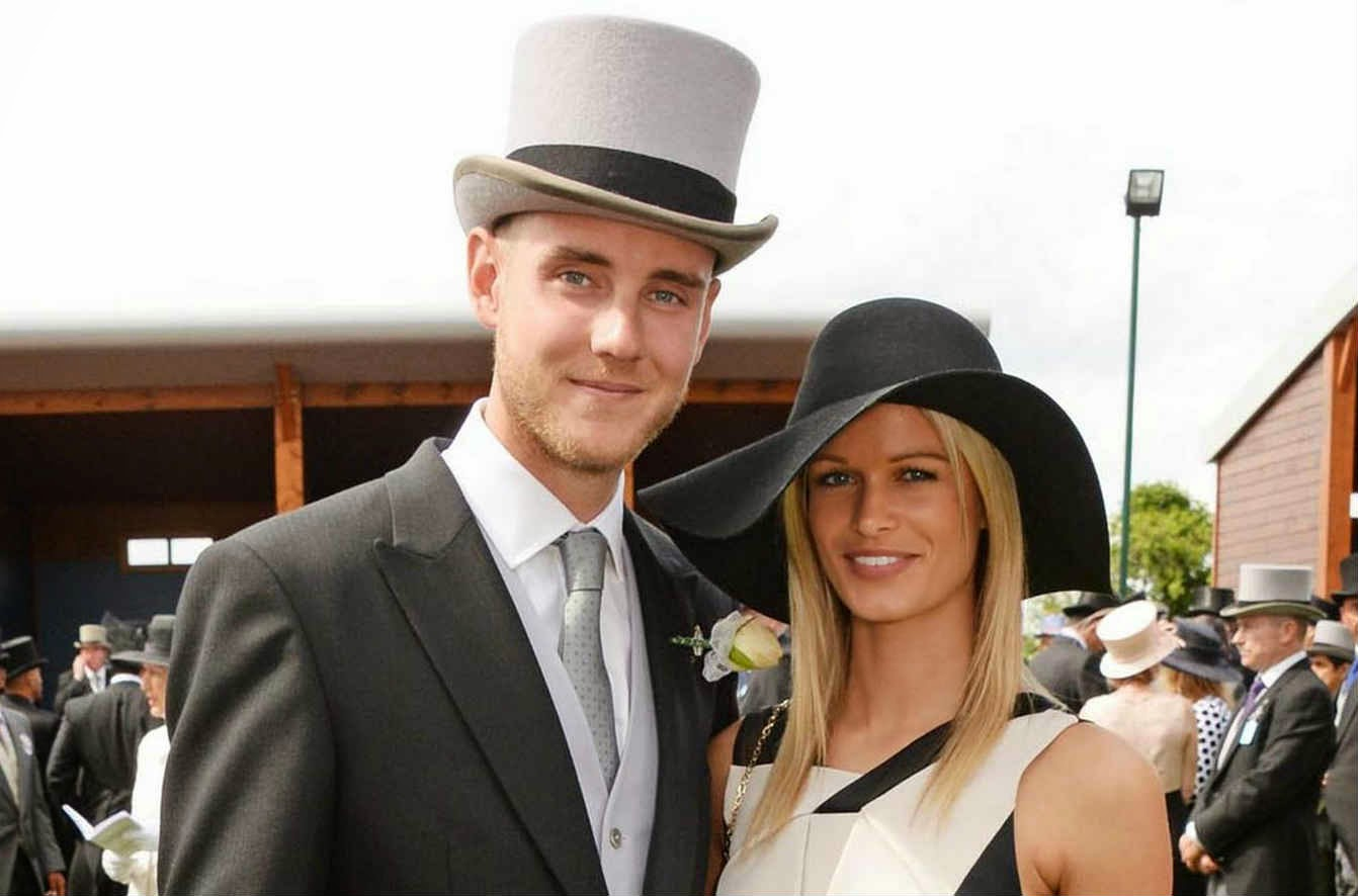Stuart Broad with his girlfriend Bealey Mitchell