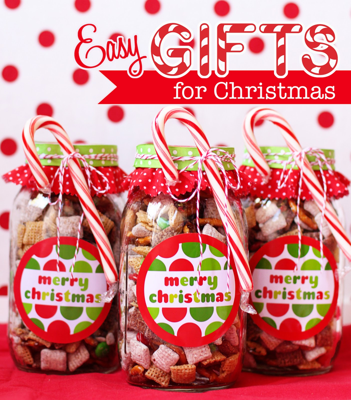 How To Make Handmade Chex Mix Holiday Gifts & Bonus Free Printable