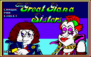 Great Giana Sisters Amstrad CPC title screen