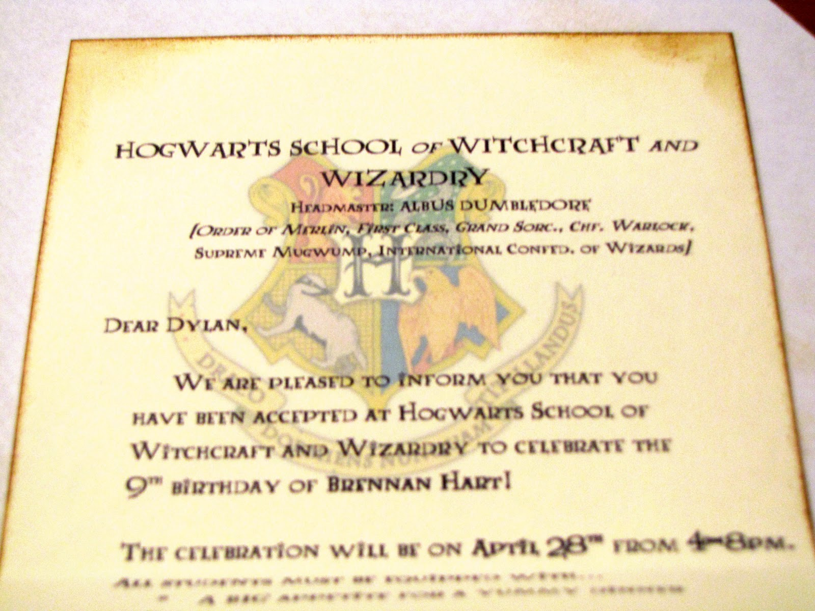 Germerican Adventures Harry Potter Birthday Invitations – Harry Potter Birthday Invitation
