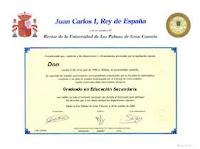 Titulo oficial de graduado ESO