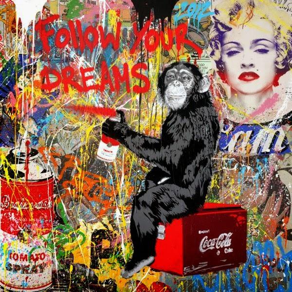 Ecomanta banksy one understudy mr brainwash is more for Mural by mr brainwash