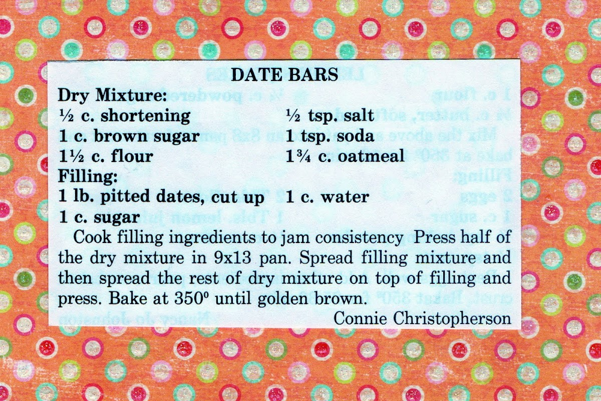 Date Bars (quick recipe)