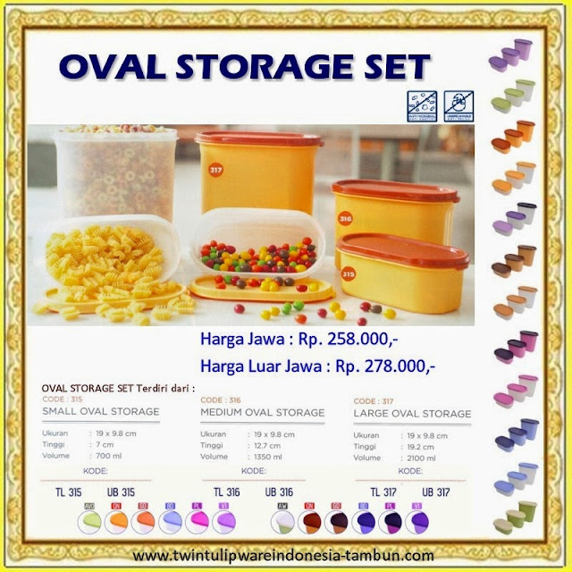 oval storage set tulipware 2013