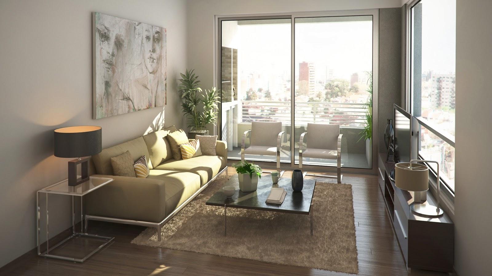 Renders arquitectura render living san miguel for Decoracion interiores departamentos
