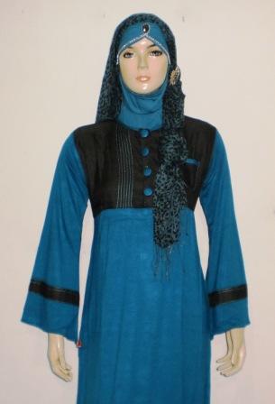 Grosir baju muslim murah online tanah abang gamis denim Baju couple gamis denim