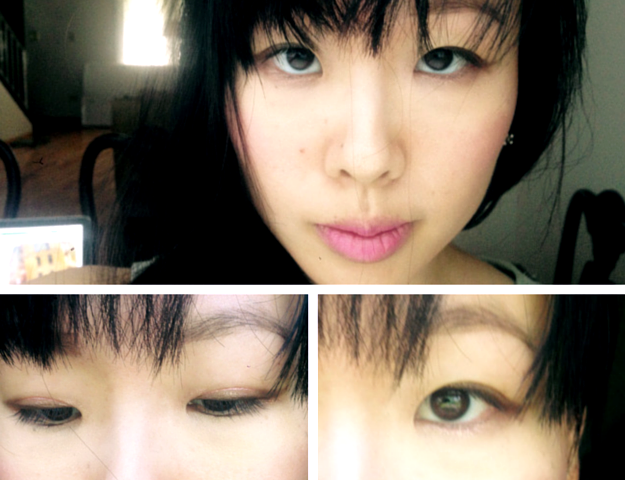 effortless pink monochrome look tony moly lovely crystal eyes pink beam 토니몰리 크리스탈 러브리 애교 아이즈 3 핑크 빔