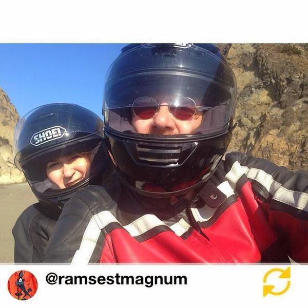 two on a motorcycle selfie via @ramsestmagnum Instagram