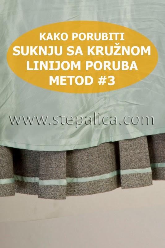 Šivenje Zlata suknje: #16 porubljivanje suknje, metod 3