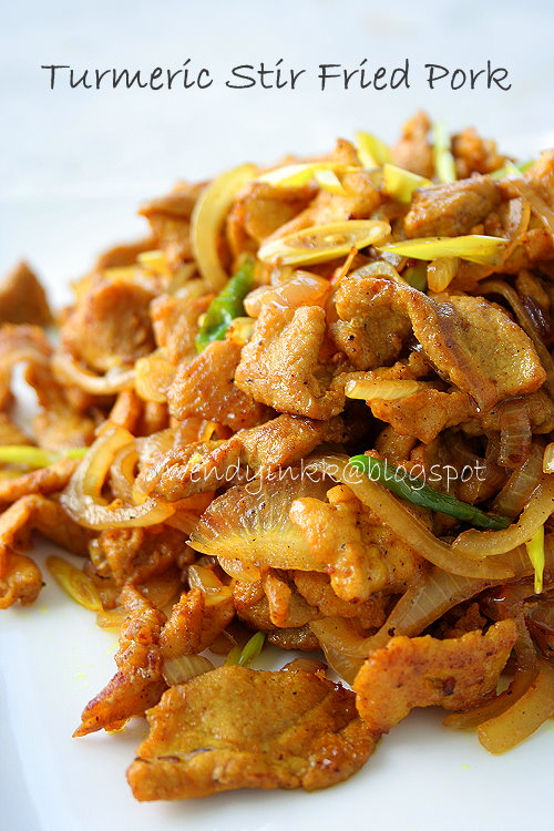 Table for 2 or more turmeric stir fried pork confinement a dish i created during confinement but suitable for any occasion my confinement lady prepared everything i told her and i cooked this myself forumfinder Gallery
