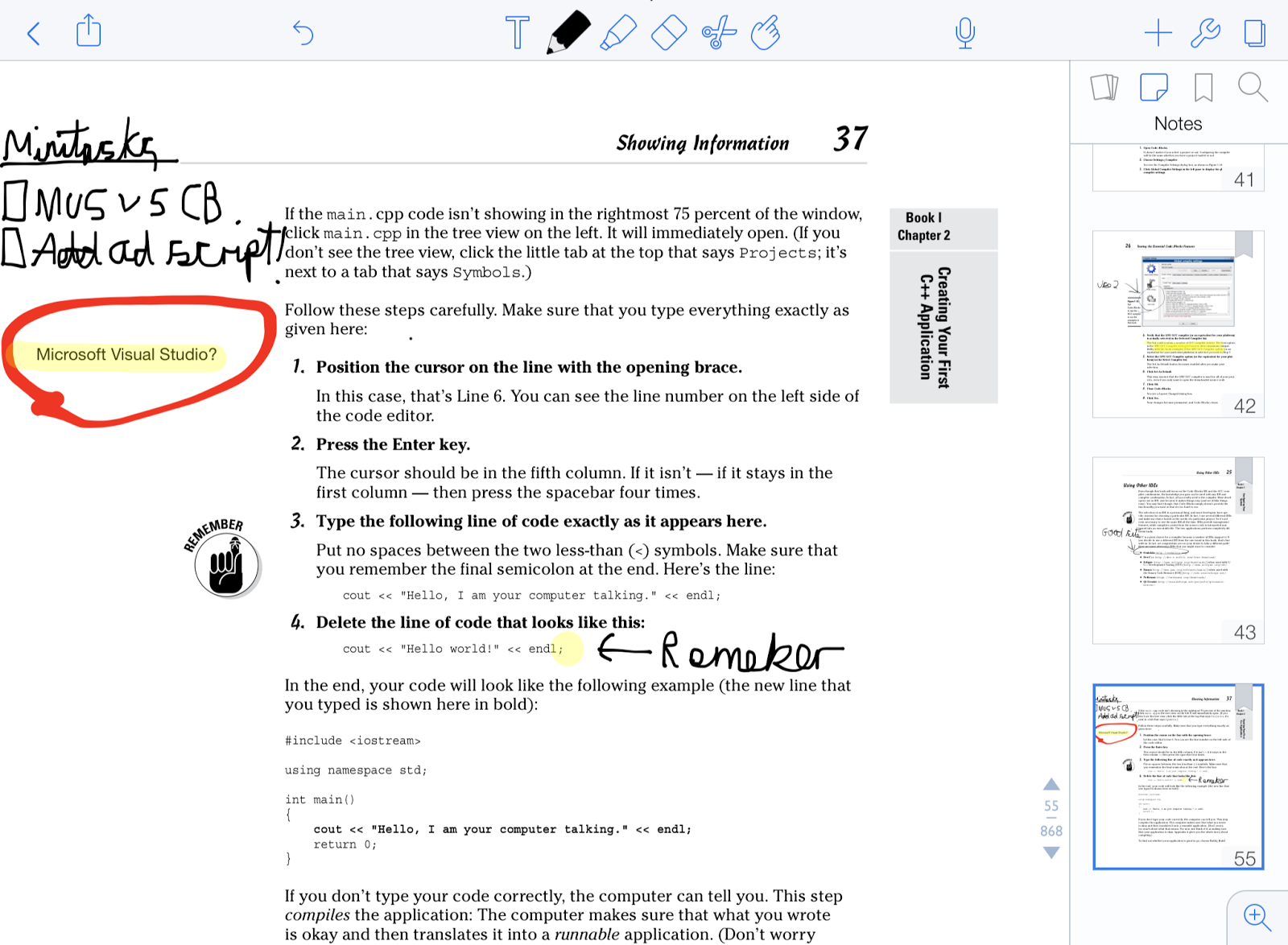 how to delete pages in notability