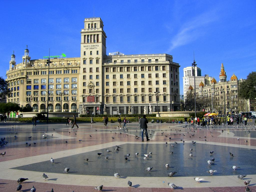 BARCELONA CATALUNYA SQUARE ~ Beautiful places of