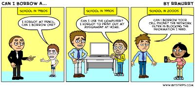cartoon about how school has changed