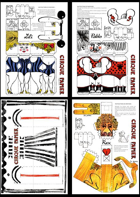 cirque - pochettes d'artiste en édition limitée