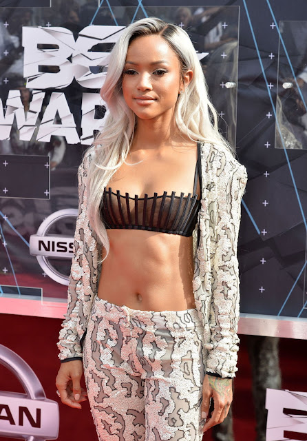 Model @ Karrueche Tran - 2015 BET Awards in LA