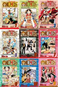 one piece anime - manga cover 1-10
