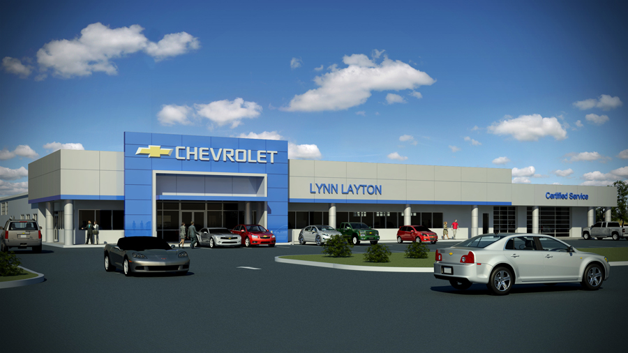 newsouth architects projects and news lynn layton chevrolet renovation. Black Bedroom Furniture Sets. Home Design Ideas