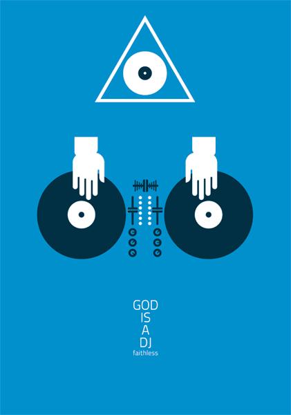 Irek Kuriata - Graphic Design: GOD IS A DJ