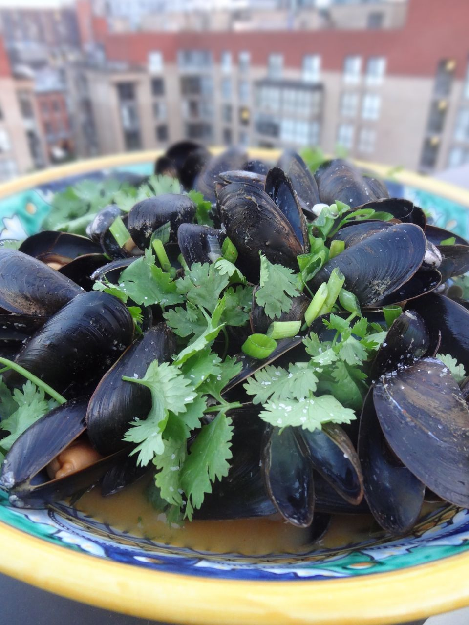 Scrumpdillyicious: Steamed Mussels with Curried Coconut Broth