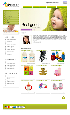 Template Baby Shop
