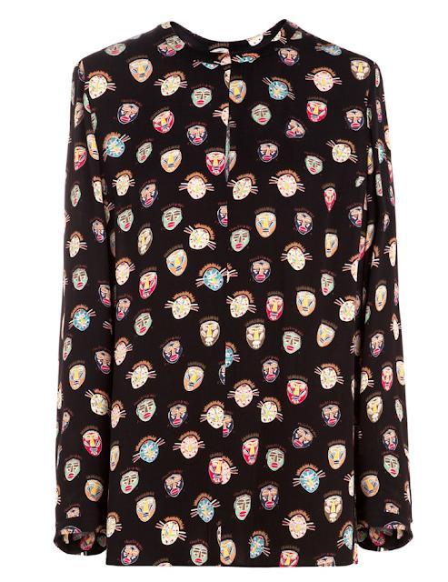 Clon blusa máscaras Stella McCartney crucero 2015, Bimba y Lola SS 2015
