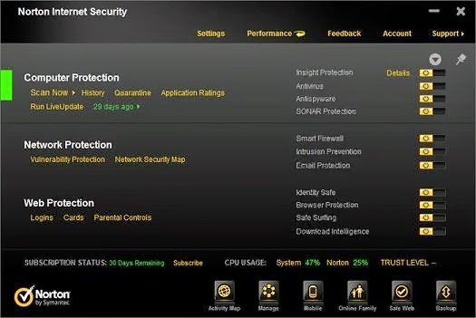 Norton Internet Security Free Download for Windows 10 - 64