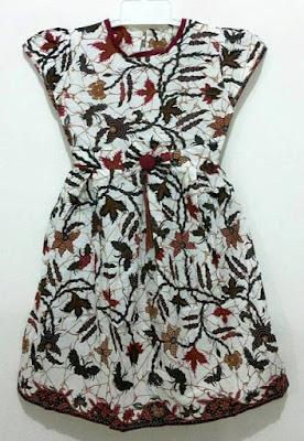 Model Baju Batik Anak Perempuan 11