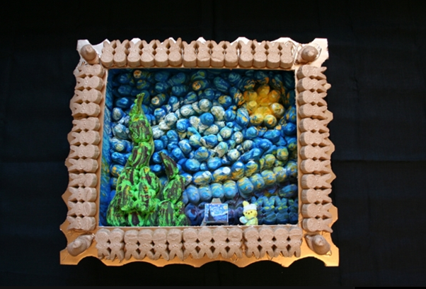 Peeps Show V winner, The Washington Post, Vincent van Peeps Starry Night