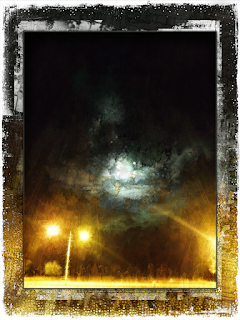 Real for a Moment 3: Lampposts and Moon-clouds Copyright 2015 Christopher V. DeRobertis. All rights reserved. insilentpassage.com