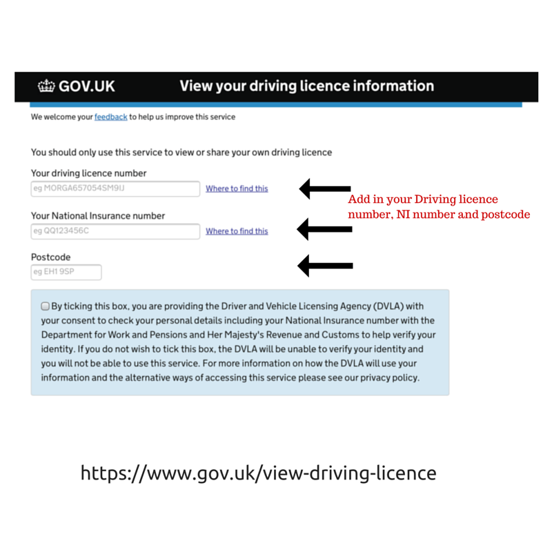 check driving license using code