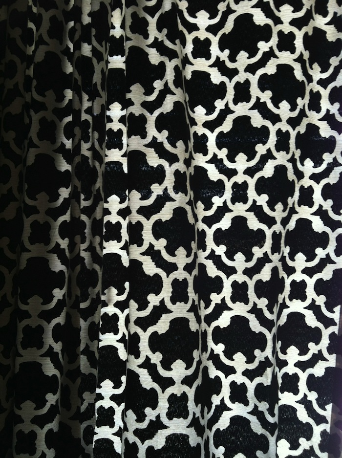 Black And White Lattice Curtains Black and White Patterned Boo