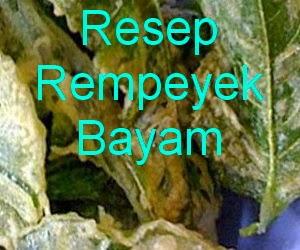 Resep dan Cara Membuat Rempeyek Daun Bayam