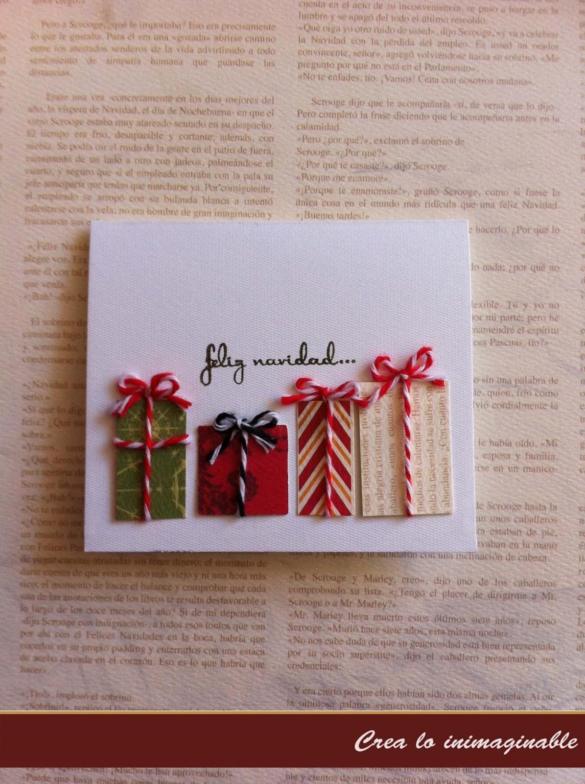Crea lo inimaginable tarjetas de navidad - Targetas de navidad originales ...