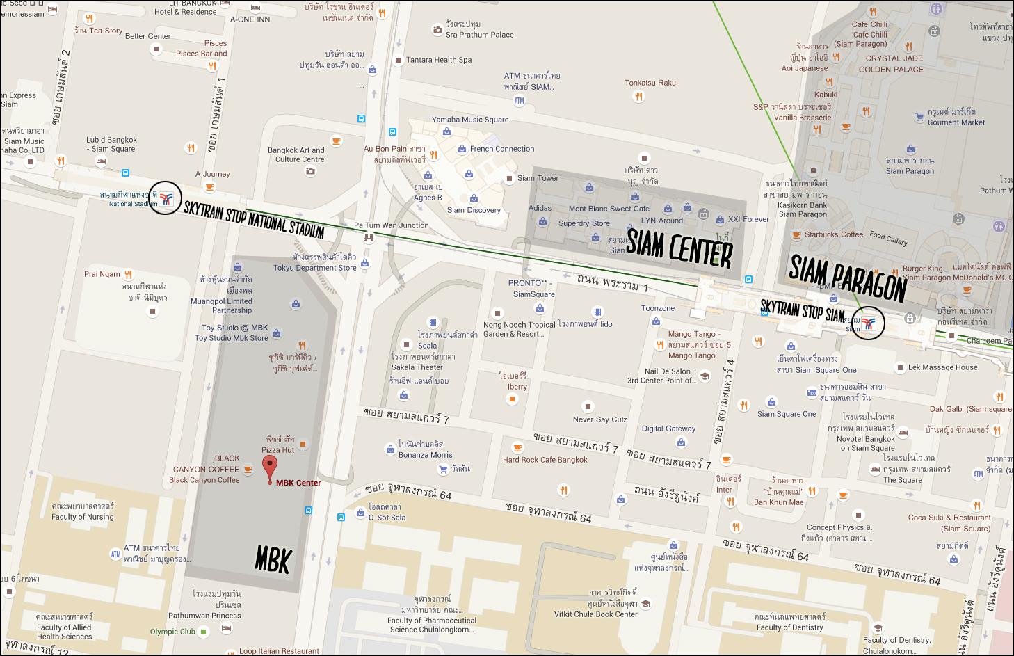 bangkok mbk map