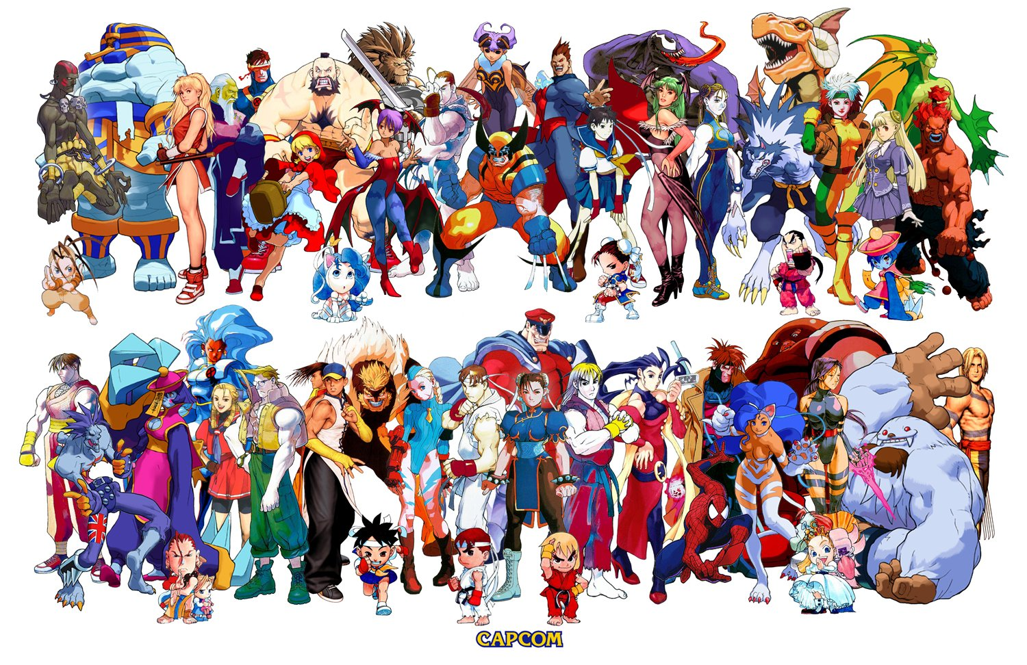 Capcom Fighting Characters - Gaming wallpaper