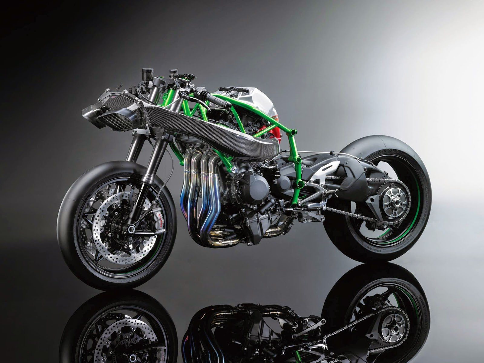 racing caf kawasaki ninja h2r concept intermot 2014. Black Bedroom Furniture Sets. Home Design Ideas