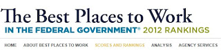 Screenshot of Best Places to Work in the Federal Government website