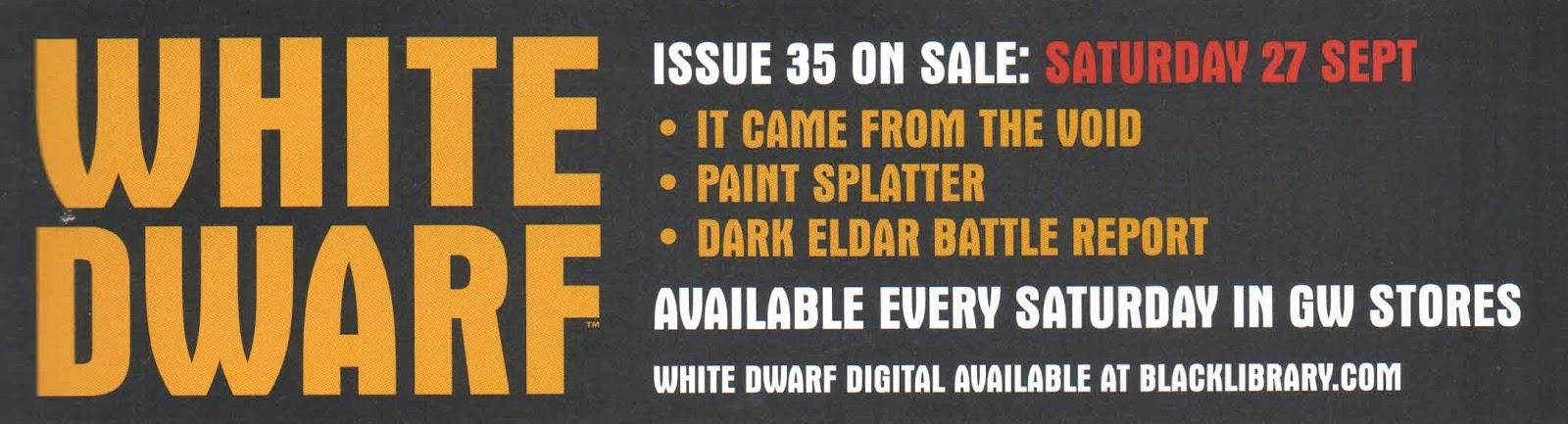 Adelanto de la White Dwarf 35
