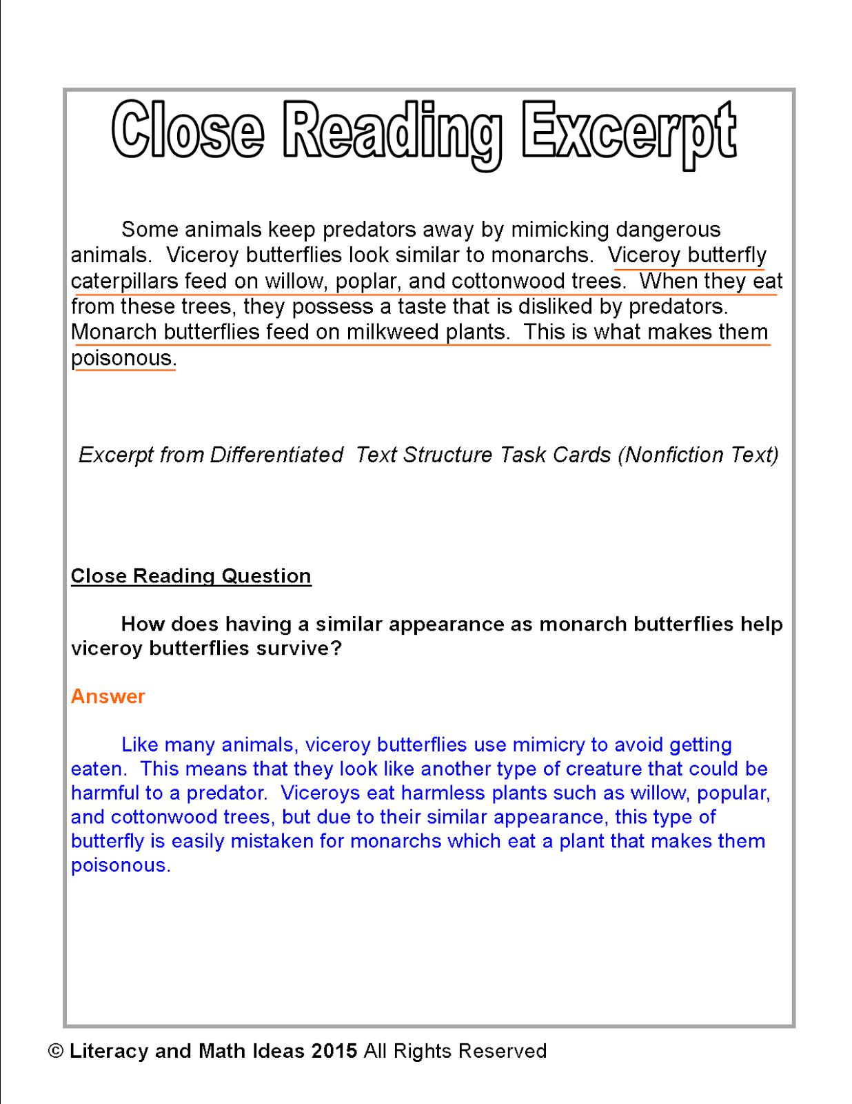 close reading questions for i have Headsprout helps students master close reading, referring them back to the text  to answer questions when working with visual organizers headsprout requires.