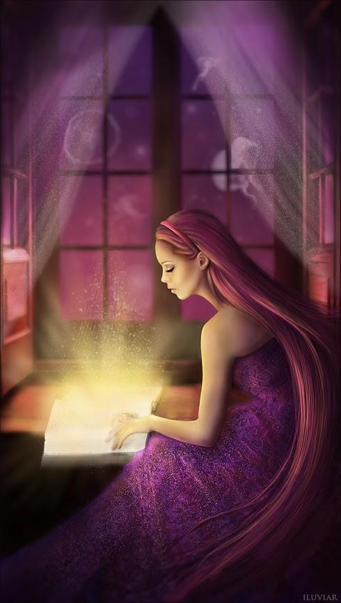 Mujer con Libro Mágico