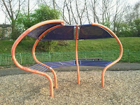 Seating area in Gorgie/Dalry Community Park?