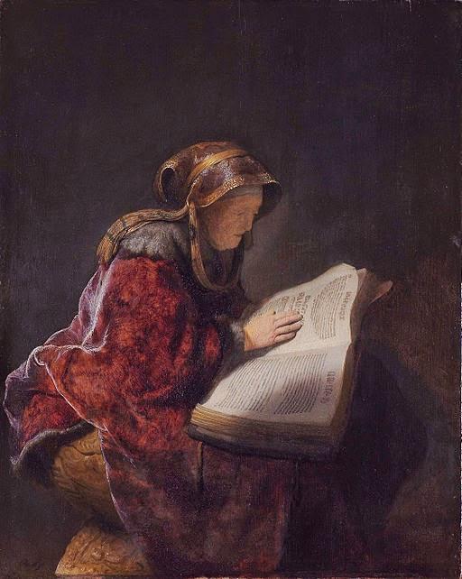 Prophet Anna, by Rembrandt van Rijn