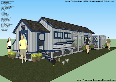 Home garden plans l200 large chicken coop plans how Home run architecture