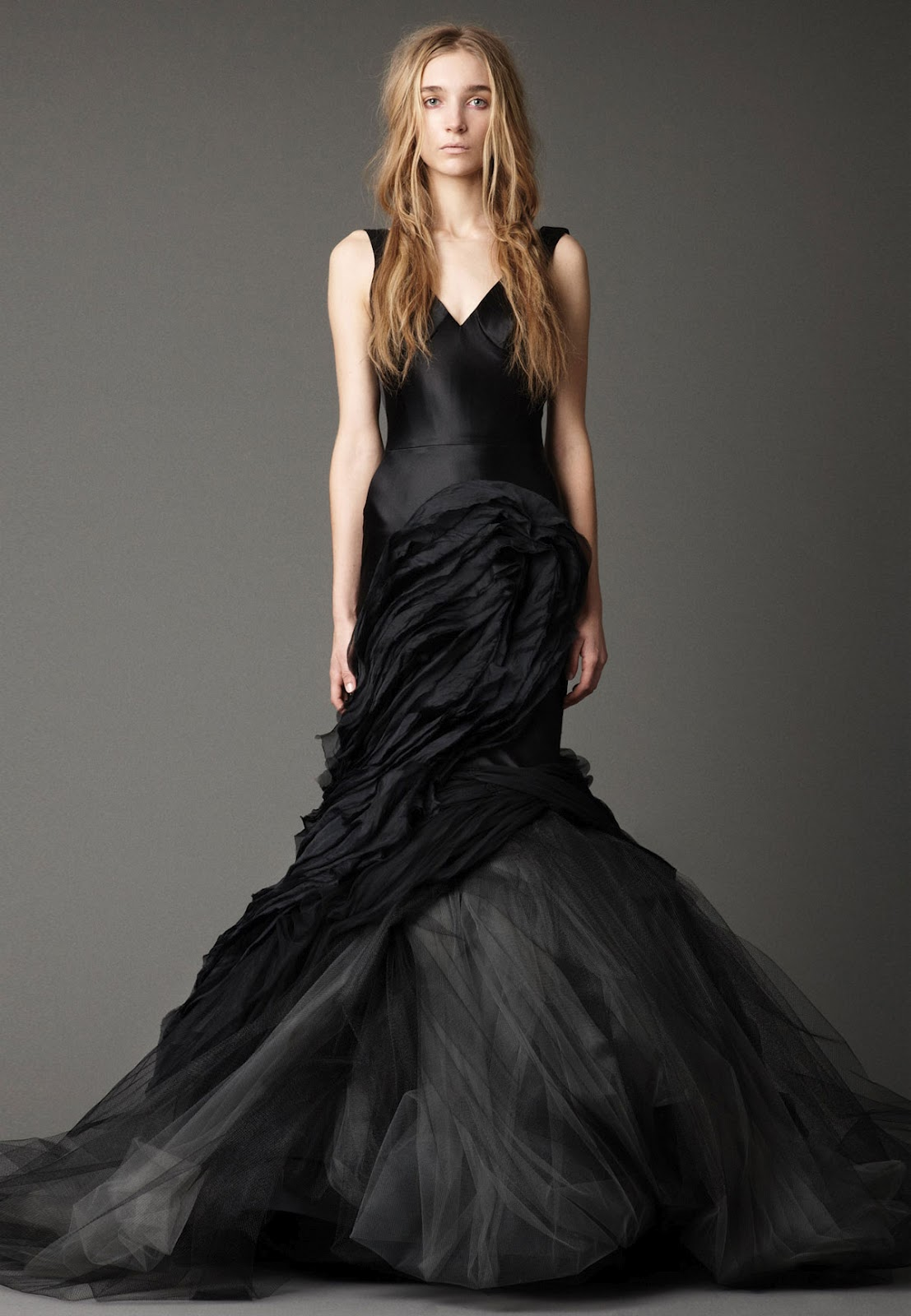 Cjnt wedding inspirations vera wang fall 2012 bridal gown for Images of black wedding dresses
